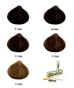 رنگ موی الیو گروه شکلاتی