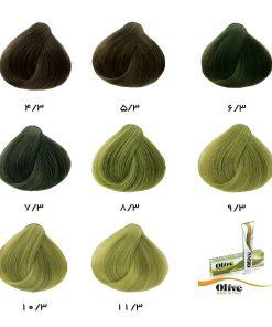 رنگ موی الیو زیتونی