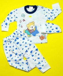 ست لباس خرس خالدار آبی