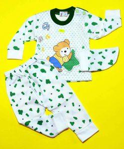 ست لباس خرس خالدار سبز