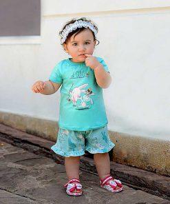 عکس مدل تیشرت شلوارک دخترانه بچه گانه خرگوش سرخپوست کد 2226