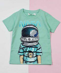تیشرت پسرانه بچه گانه طرح فضانورد کد 2237